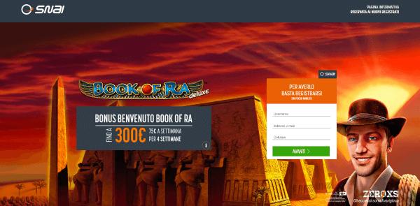 SNAI Casino Bonus Gratis